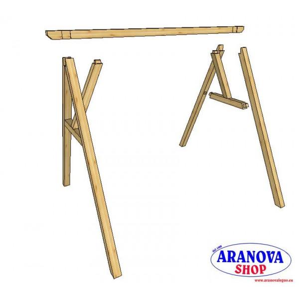 Altalena in legno sofia 2 posti aranova legno system e for Altalena legno usata