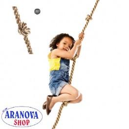 Fune di risalita con tre nodi per bambini, ideale per strutture da gioco