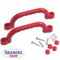 Set maniglie di plastica rosse per per strutture da gioco