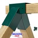Raccordo giunto dritto quadrato per altalena da 9x9 cm colore verdeGiunto dritto per travi quadrati da 9x9 cm colore verde