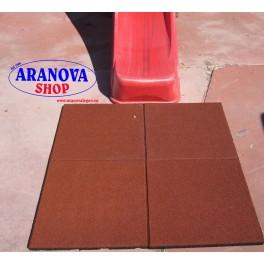Mattonella antitrauma rossa da 3 cm per altalene e giochi da giardino