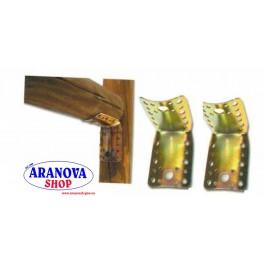 Squadra angolare piastra giunzione piegata x legni diam. mm. 80/100 acc. trop.