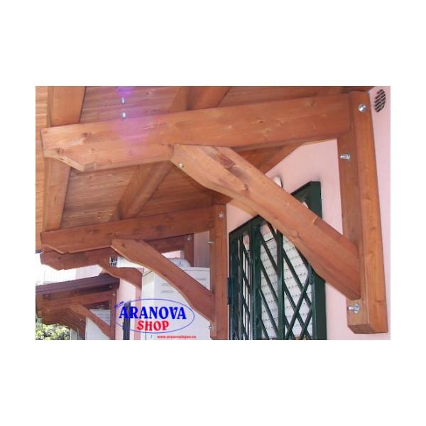 Pensilina tettoia in legno lamellare per porte e finestre - Fai da te verniciare finestre legno ...