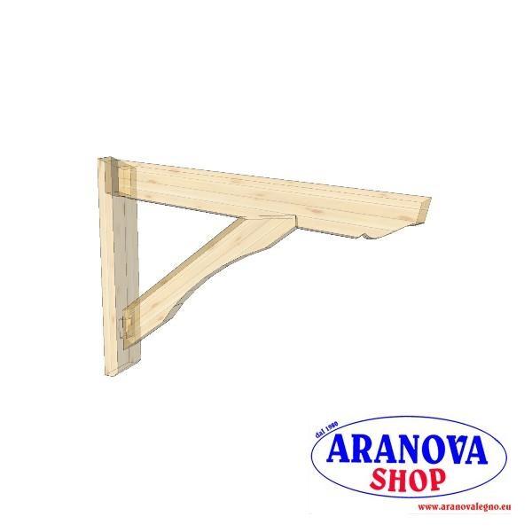 Pensilina tettoia in legno lamellare per porte e finestre in kit varie misure aranova legno - Finestre in legno fai da te ...